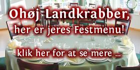 Ohøj Landrabber,  her er jeres Festmenu!