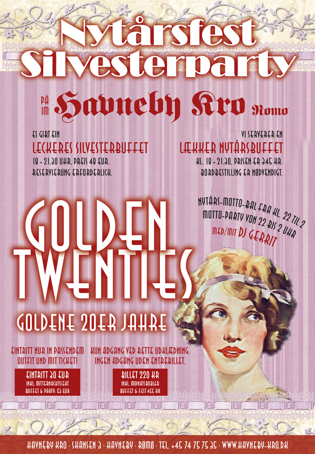 "Nytårsbal ""Golden Twenties"" på Havneby Kro"